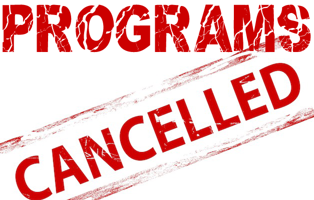 ALL CFCE Programs are CANCELLED for Tuesday, December 3, 2019